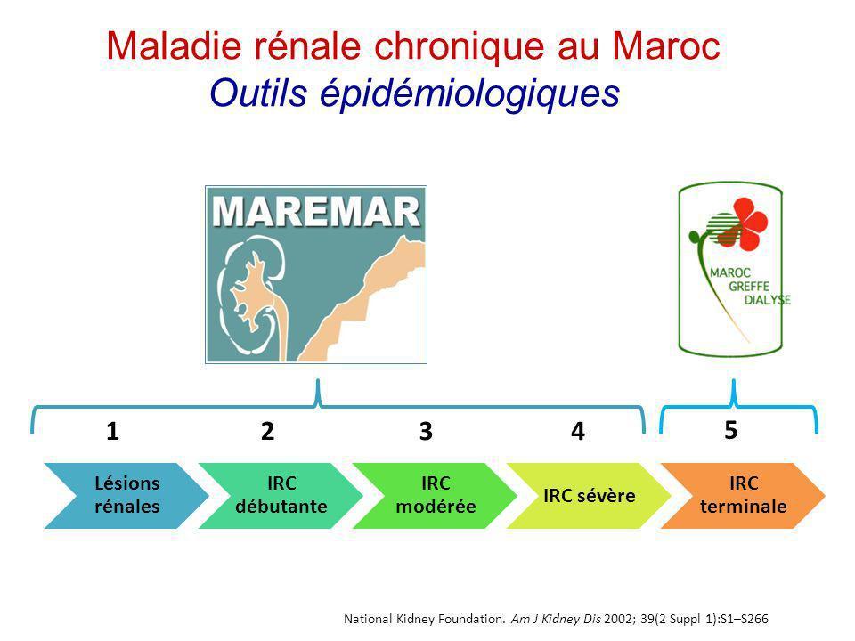 Maladie rénale chronique au Maroc Outils épidémiologiques
