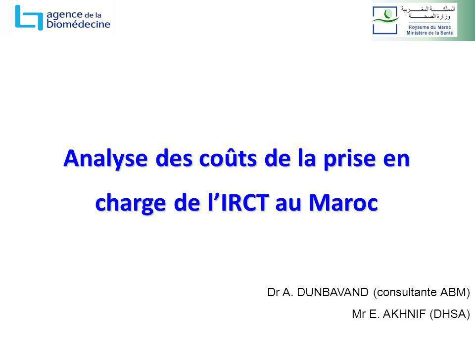 Analyse des coûts de la prise en charge de l'IRCT au Maroc