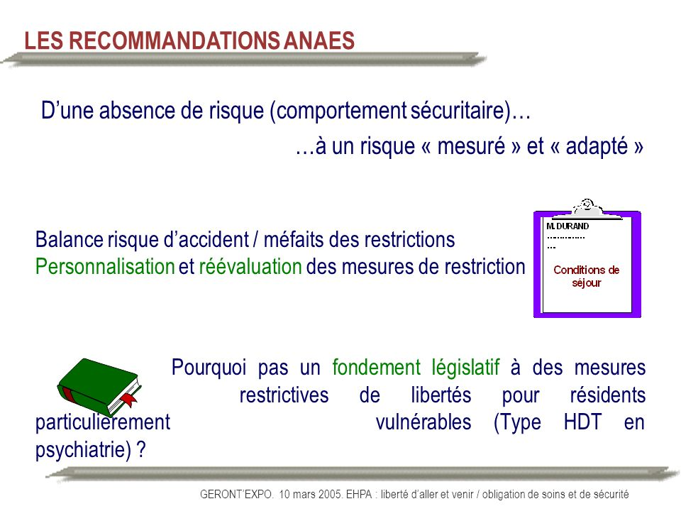 LES RECOMMANDATIONS ANAES