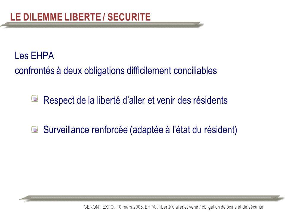LE DILEMME LIBERTE / SECURITE