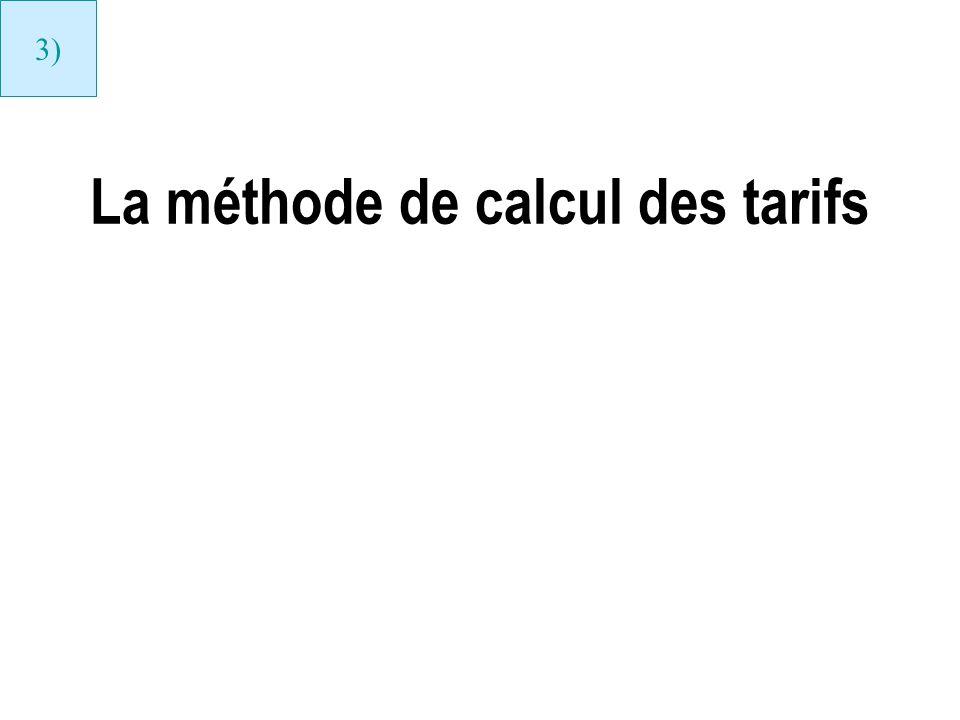 La méthode de calcul des tarifs