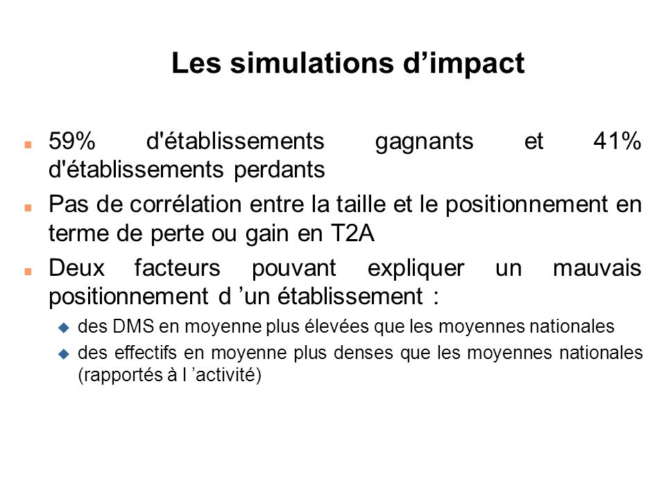 Les simulations d'impact