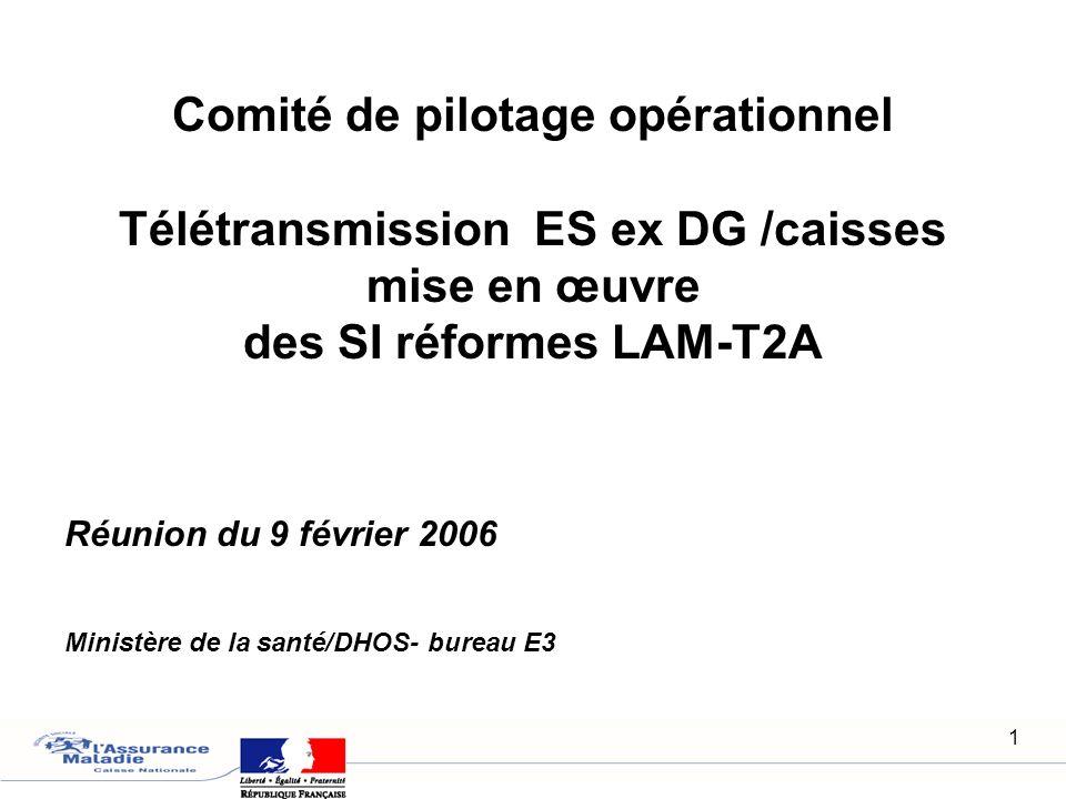 Réunion du 9 février 2006 Ministère de la santé/DHOS- bureau E3