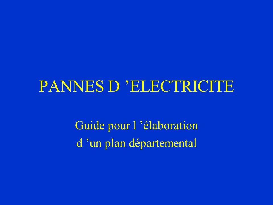Guide pour l 'élaboration d 'un plan départemental