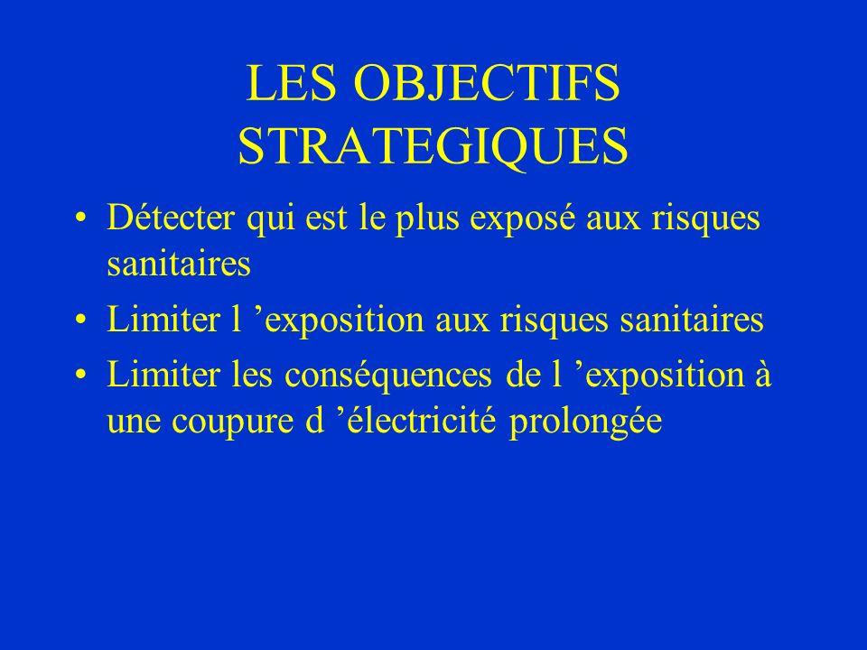 LES OBJECTIFS STRATEGIQUES