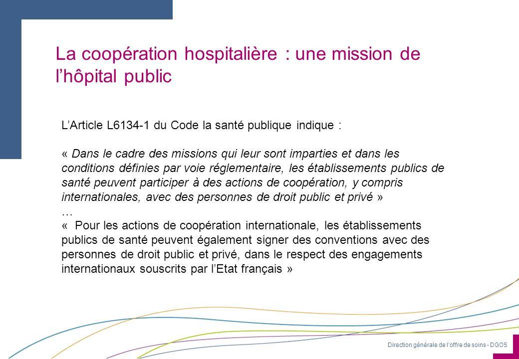 La coopération hospitalière : une mission de l'hôpital public