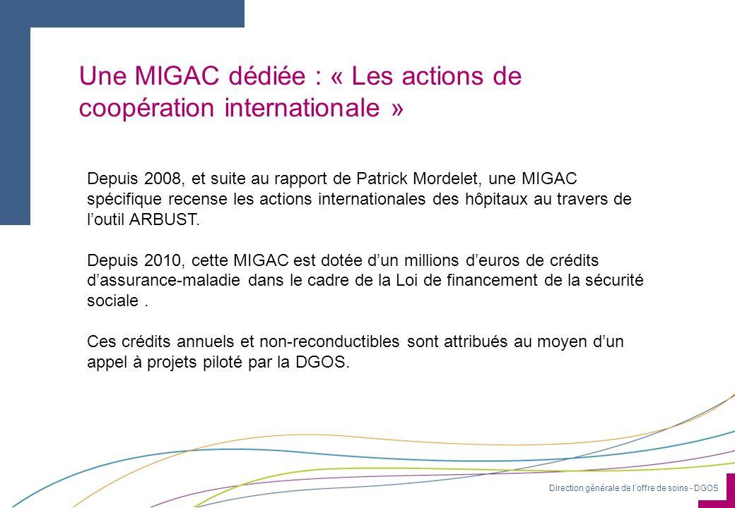 Une MIGAC dédiée : « Les actions de coopération internationale »