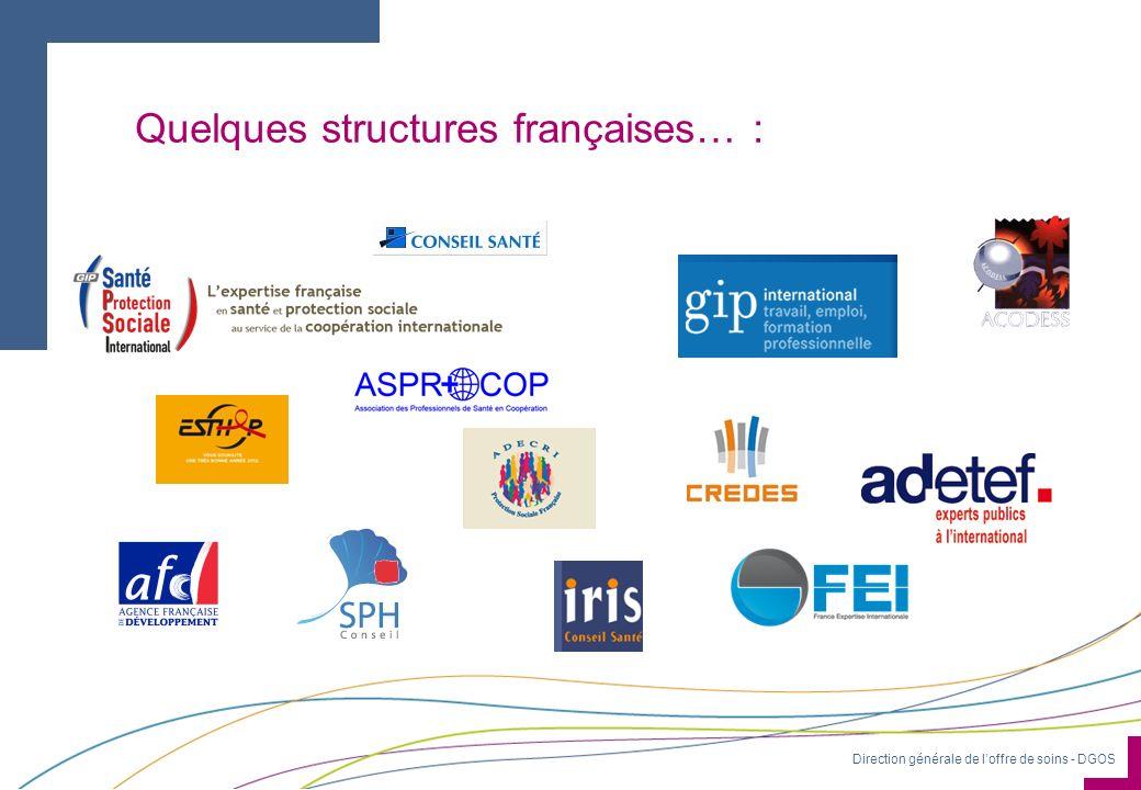 Quelques structures françaises… :