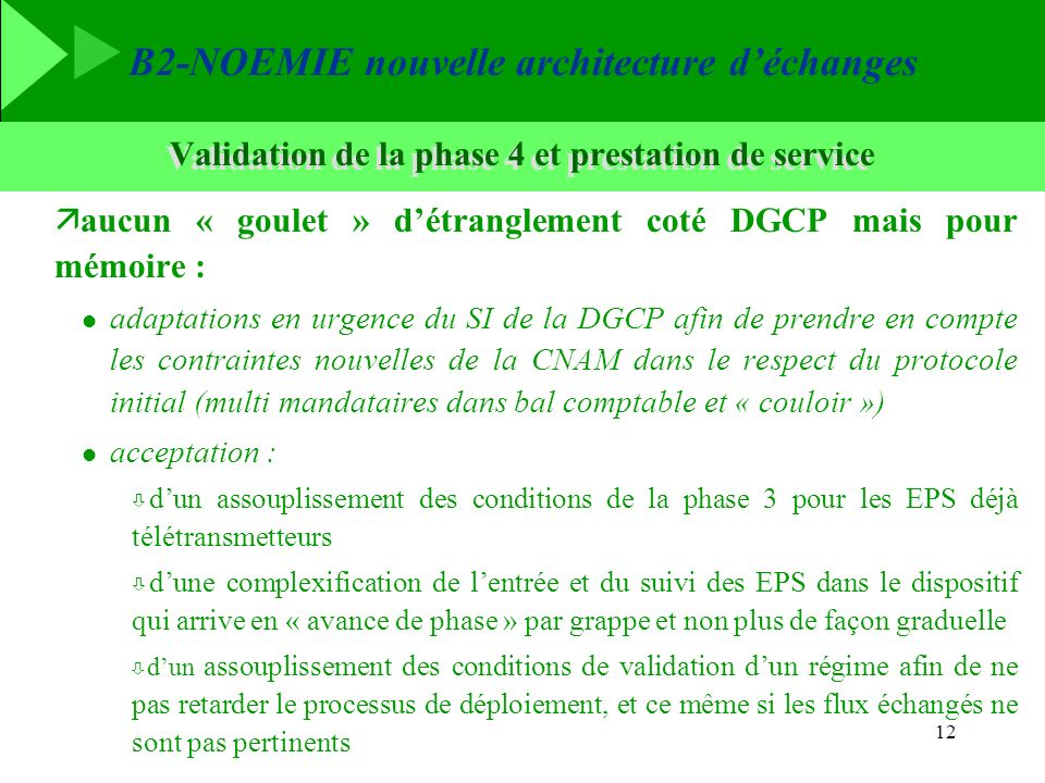 Validation de la phase 4 et prestation de service