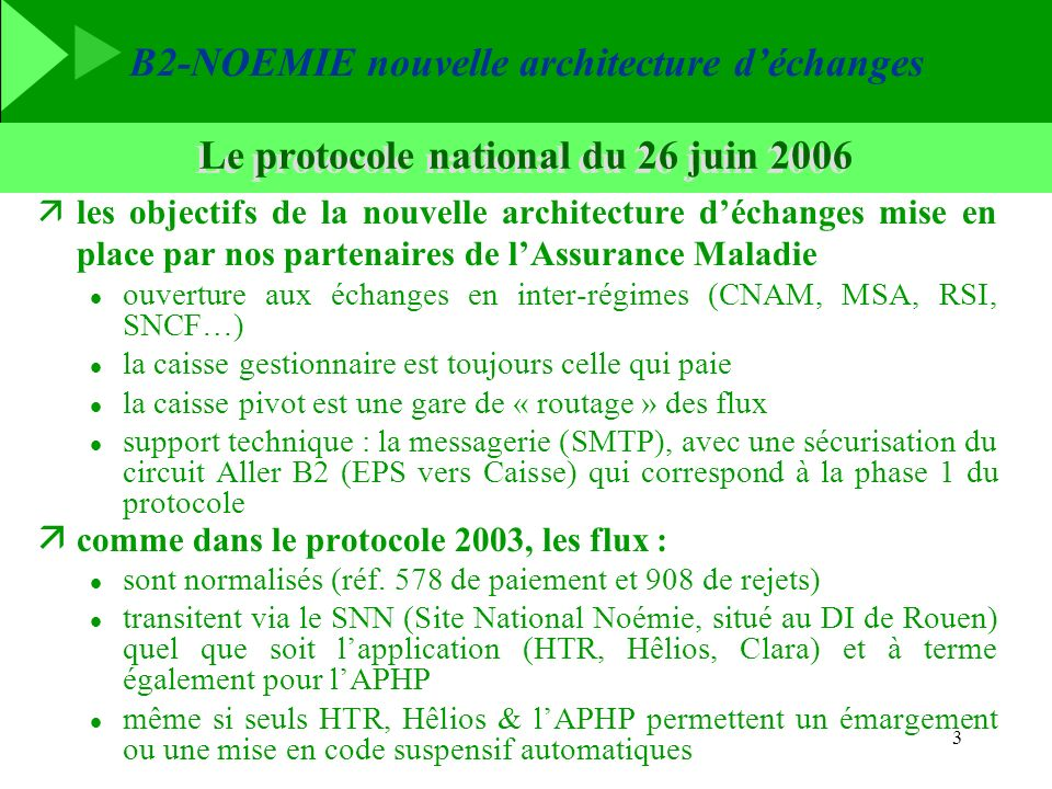 Le protocole national du 26 juin 2006