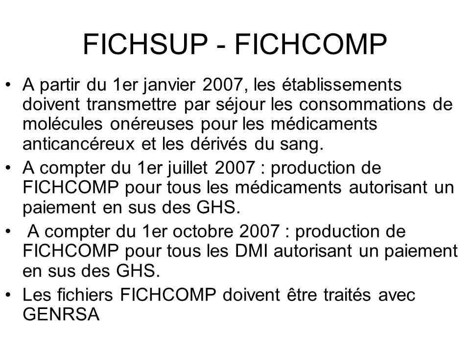 FICHSUP - FICHCOMP