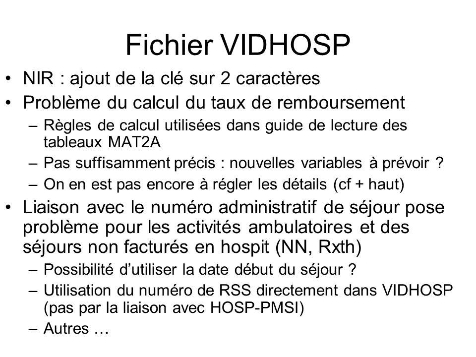 Fichier VIDHOSP NIR : ajout de la clé sur 2 caractères