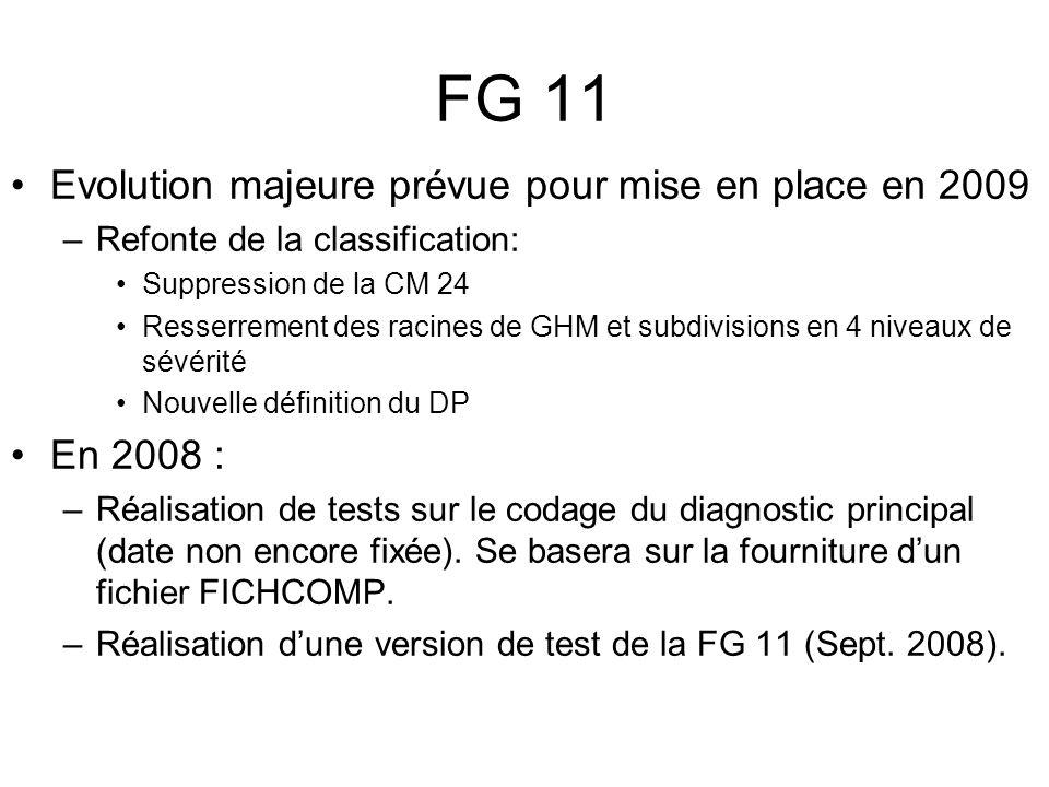 FG 11 Evolution majeure prévue pour mise en place en 2009 En 2008 :