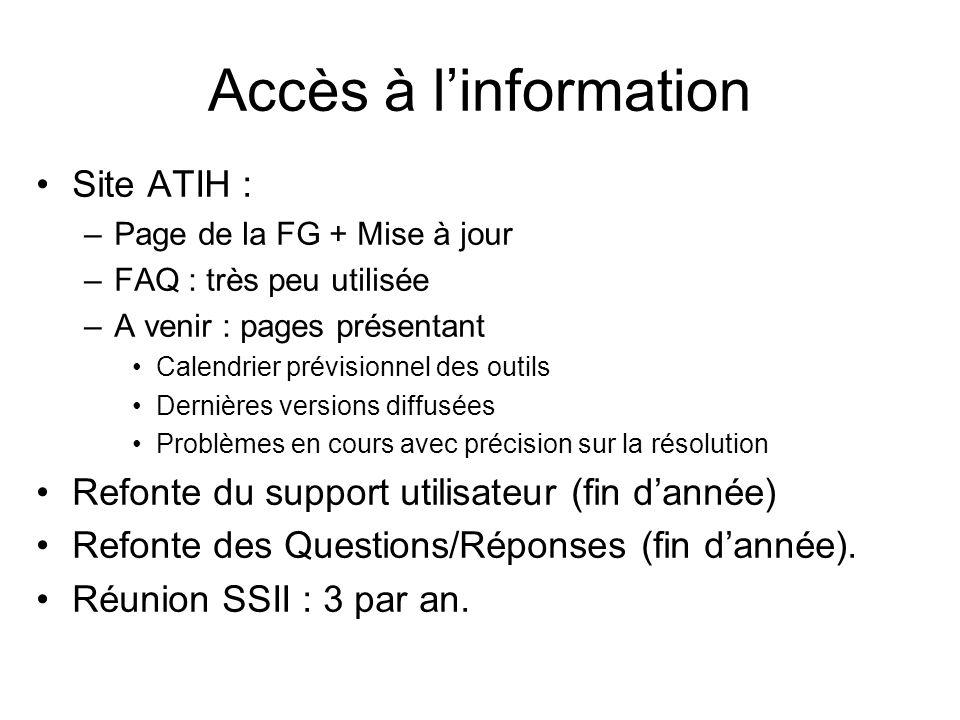 Accès à l'information Site ATIH :