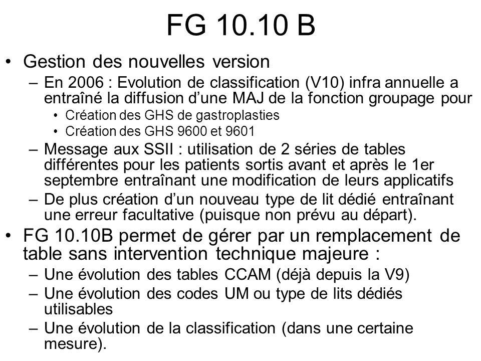 FG 10.10 B Gestion des nouvelles version