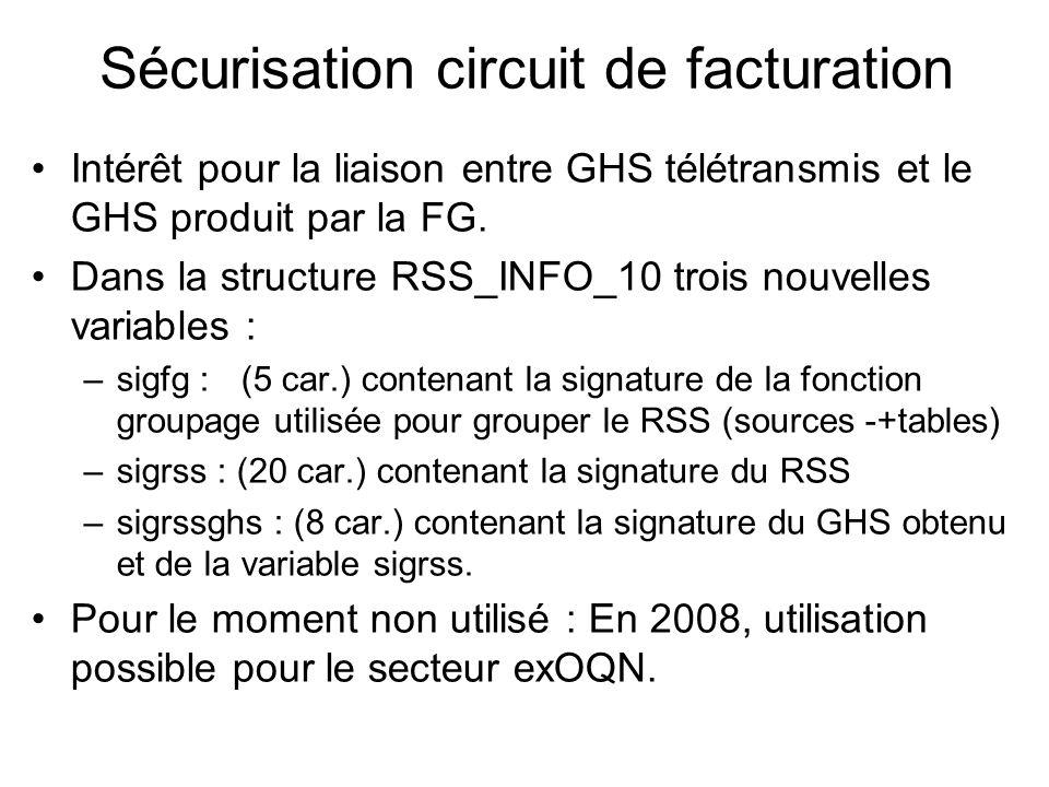 Sécurisation circuit de facturation