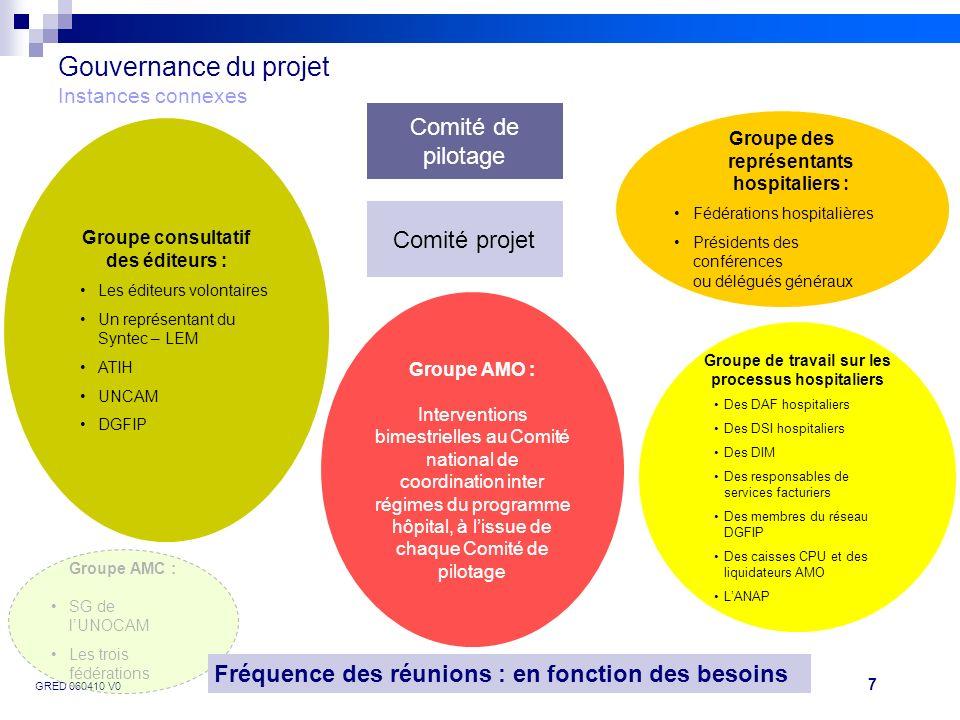 Gouvernance du projet Instances connexes