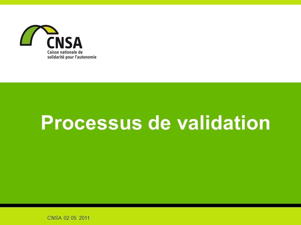 Processus de validation