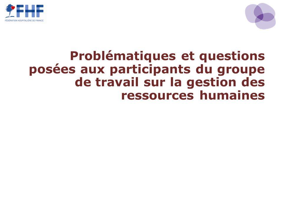 Problématiques et questions posées aux participants du groupe de travail sur la gestion des ressources humaines