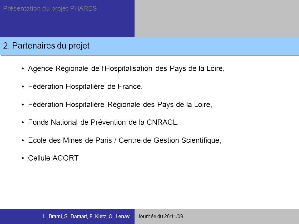 2. Partenaires du projet Agence Régionale de l'Hospitalisation des Pays de la Loire, Fédération Hospitalière de France,
