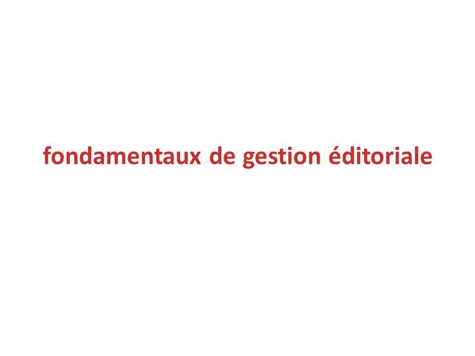 fondamentaux de gestion éditoriale