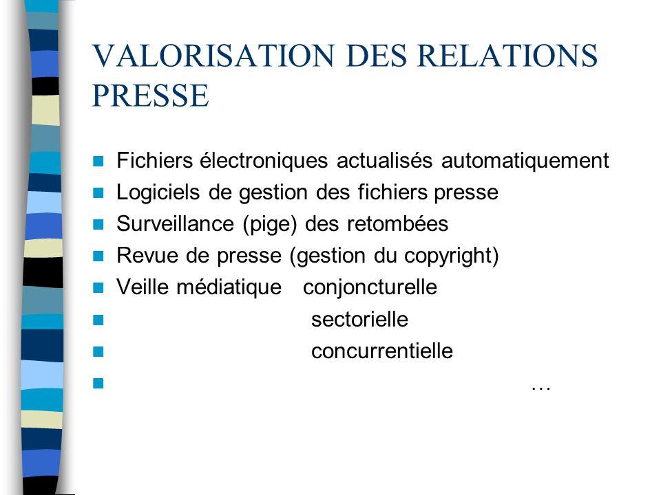 VALORISATION DES RELATIONS PRESSE