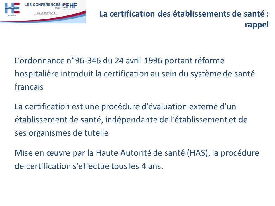 La certification des établissements de santé : rappel