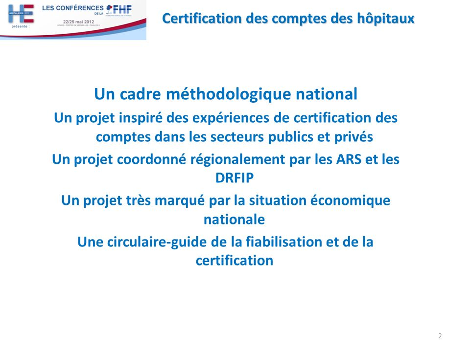 Un cadre méthodologique national
