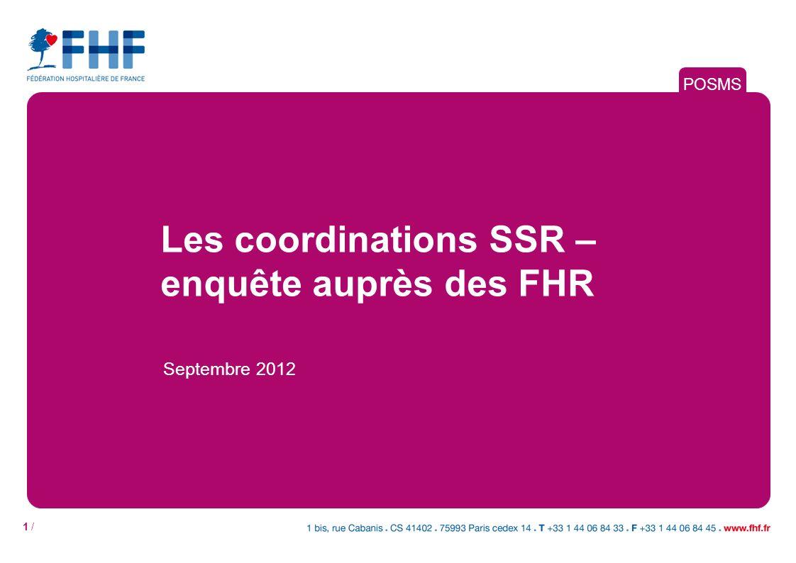 Les coordinations SSR –enquête auprès des FHR