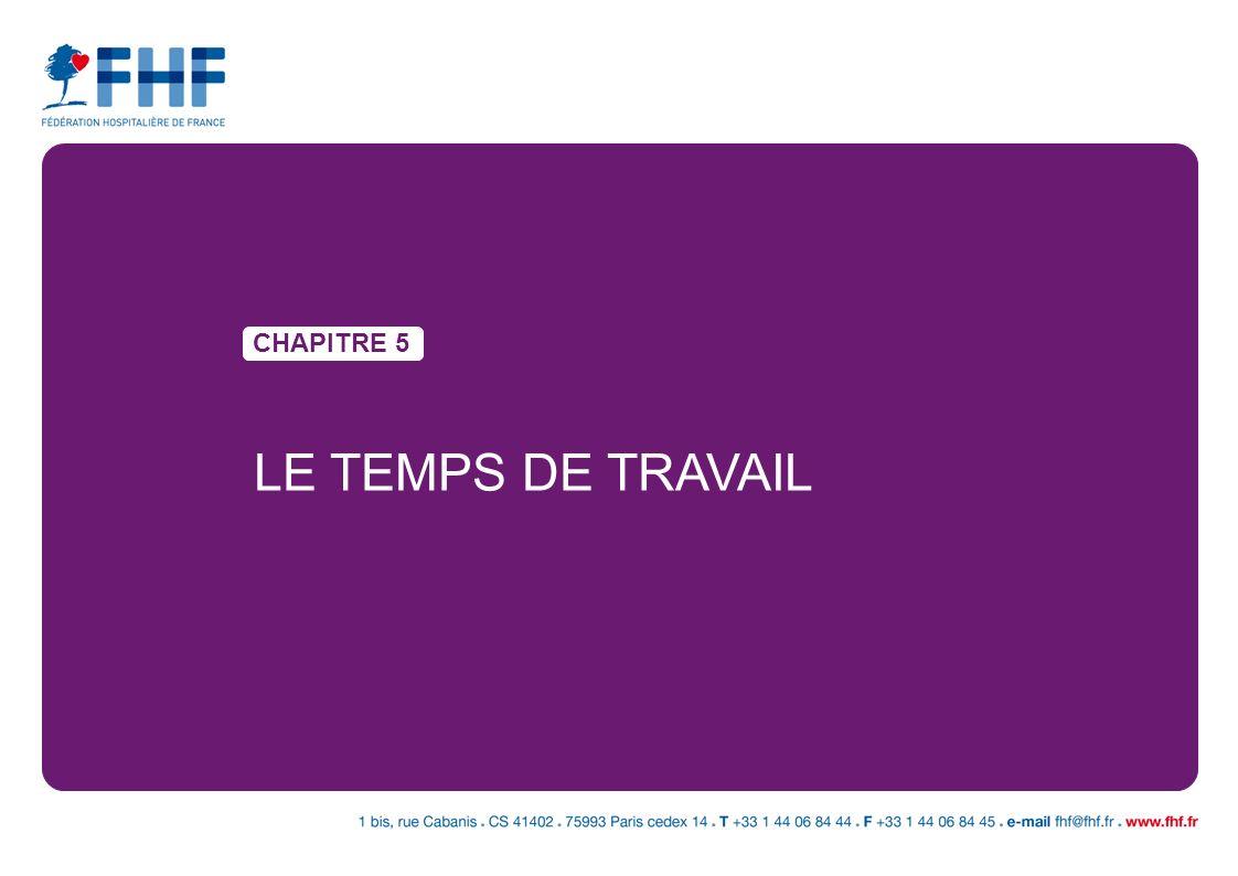 CHAPITRE 5 LE TEMPS DE TRAVAIL