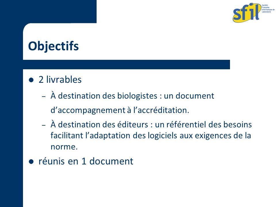 Objectifs 2 livrables réunis en 1 document
