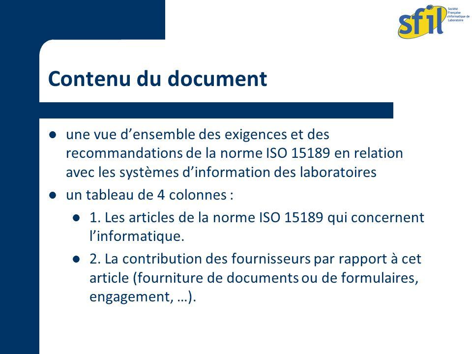 Contenu du document