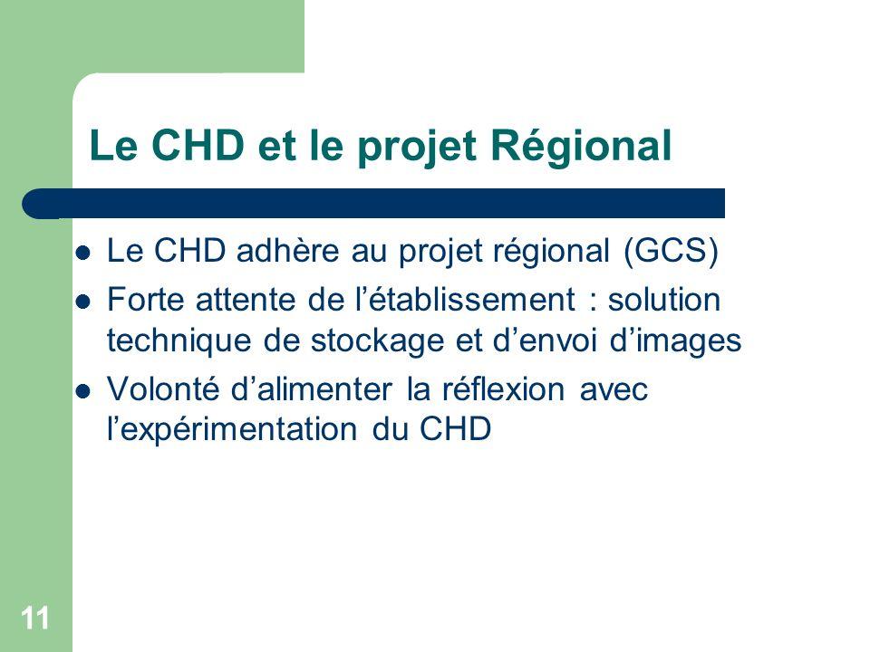 Le CHD et le projet Régional