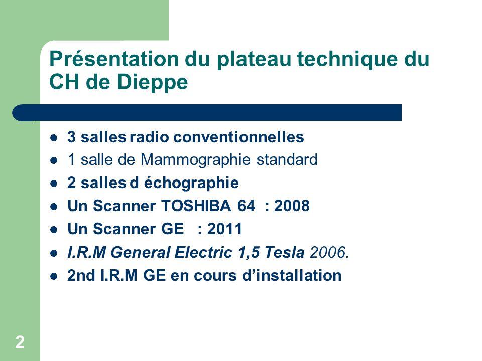 Présentation du plateau technique du CH de Dieppe