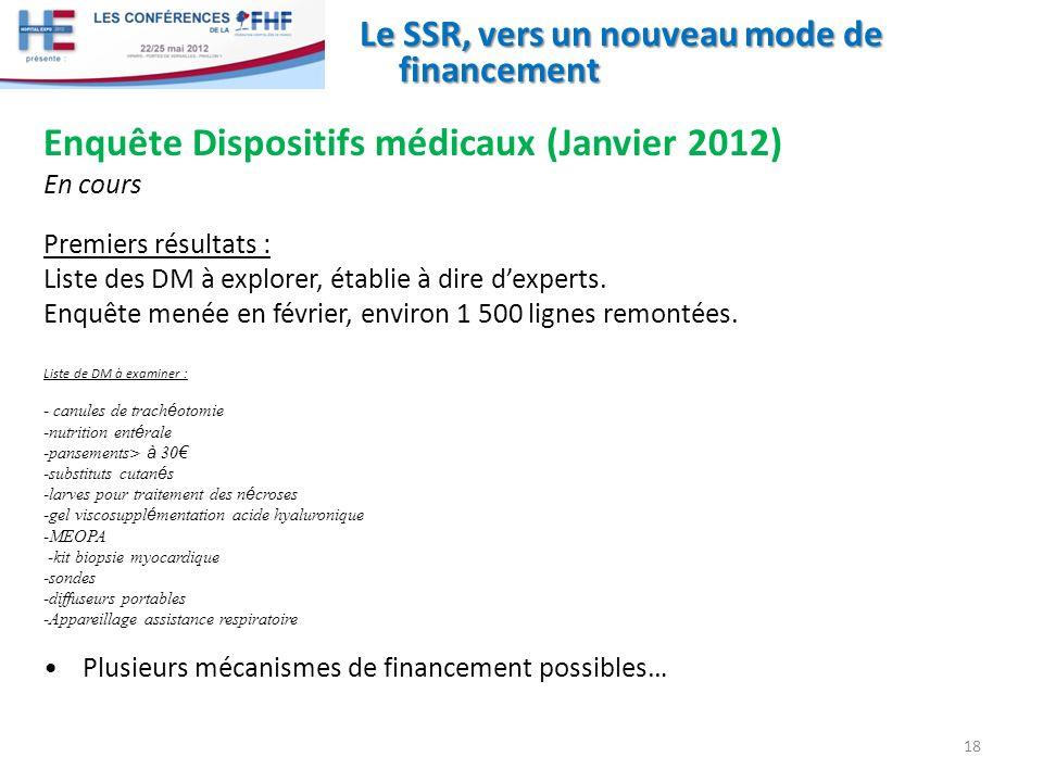 Enquête Dispositifs médicaux (Janvier 2012)