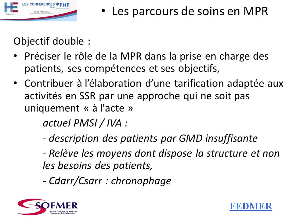 - description des patients par GMD insuffisante