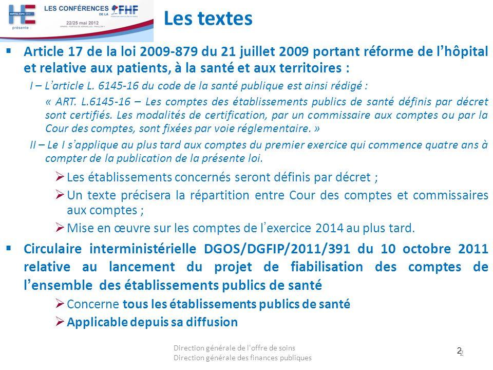 Les textes Article 17 de la loi 2009-879 du 21 juillet 2009 portant réforme de l'hôpital et relative aux patients, à la santé et aux territoires :
