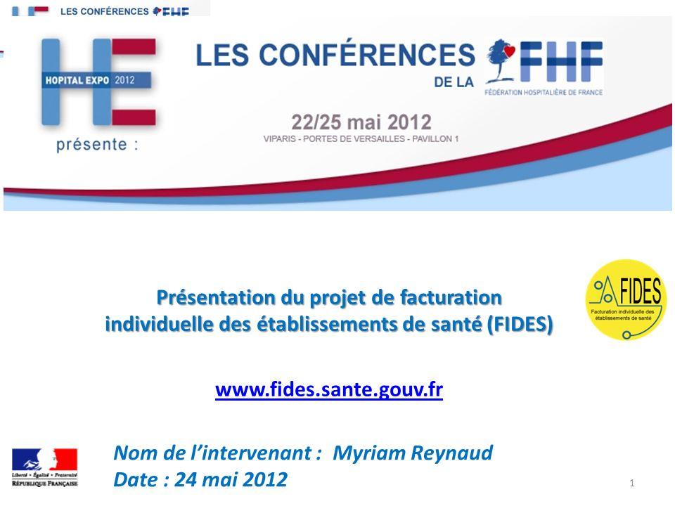 Présentation du projet de facturation individuelle des établissements de santé (FIDES)