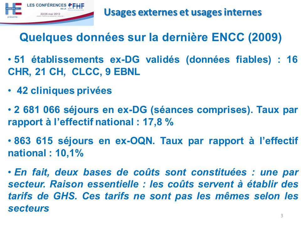 Quelques données sur la dernière ENCC (2009)