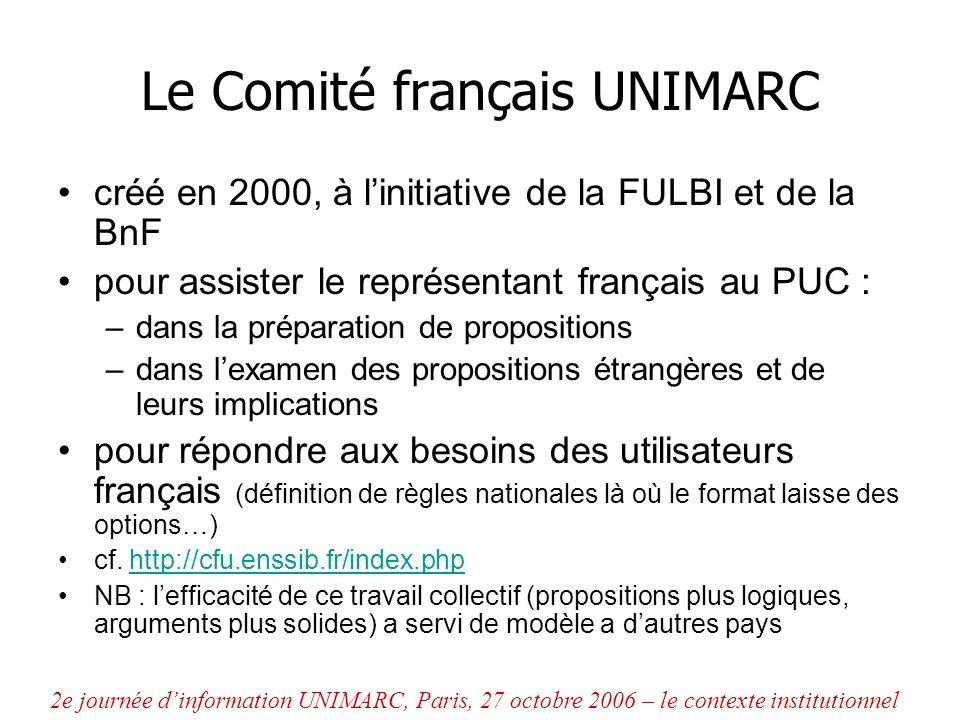 Le Comité français UNIMARC