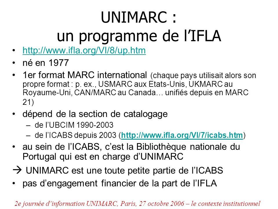 UNIMARC : un programme de l'IFLA