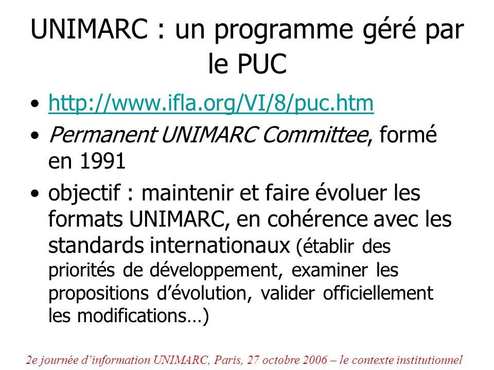 UNIMARC : un programme géré par le PUC