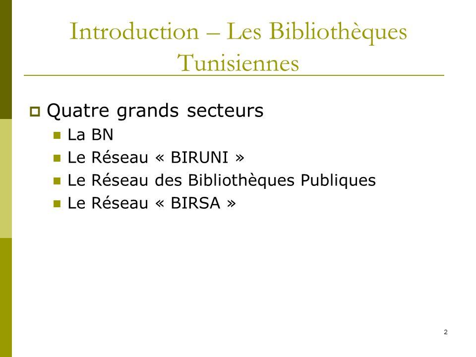 Introduction – Les Bibliothèques Tunisiennes