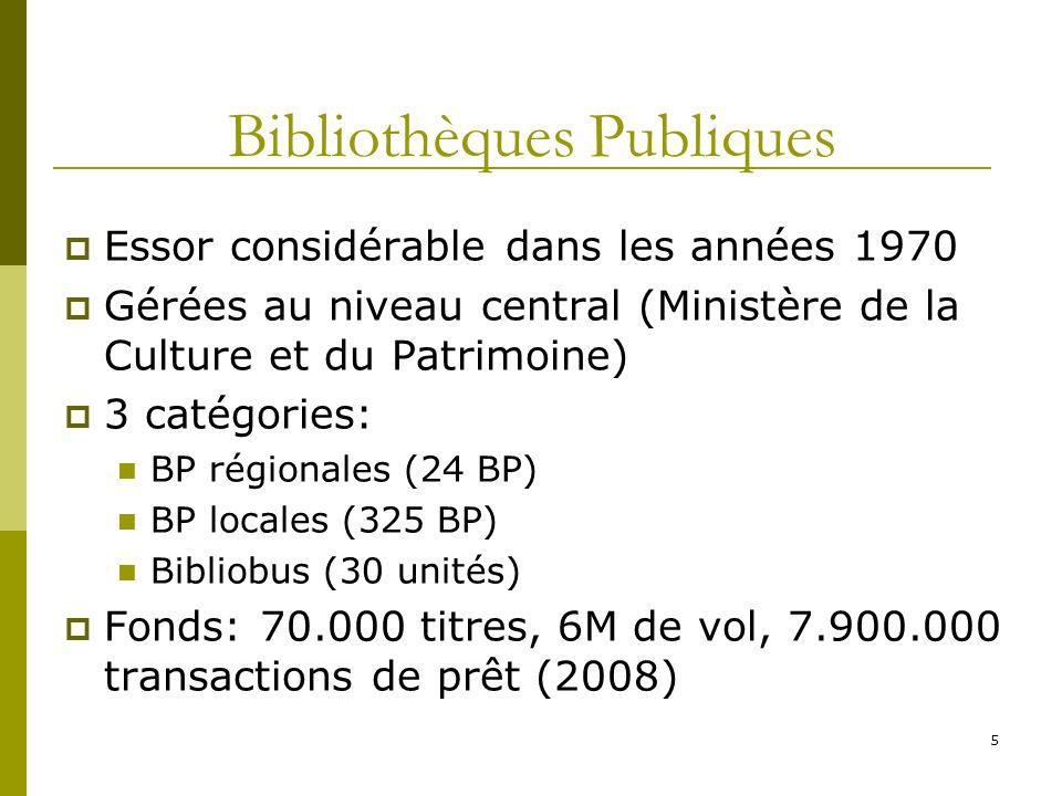 Bibliothèques Publiques