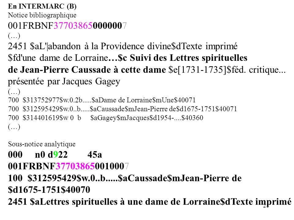2451 $aL |abandon à la Providence divine$dTexte imprimé