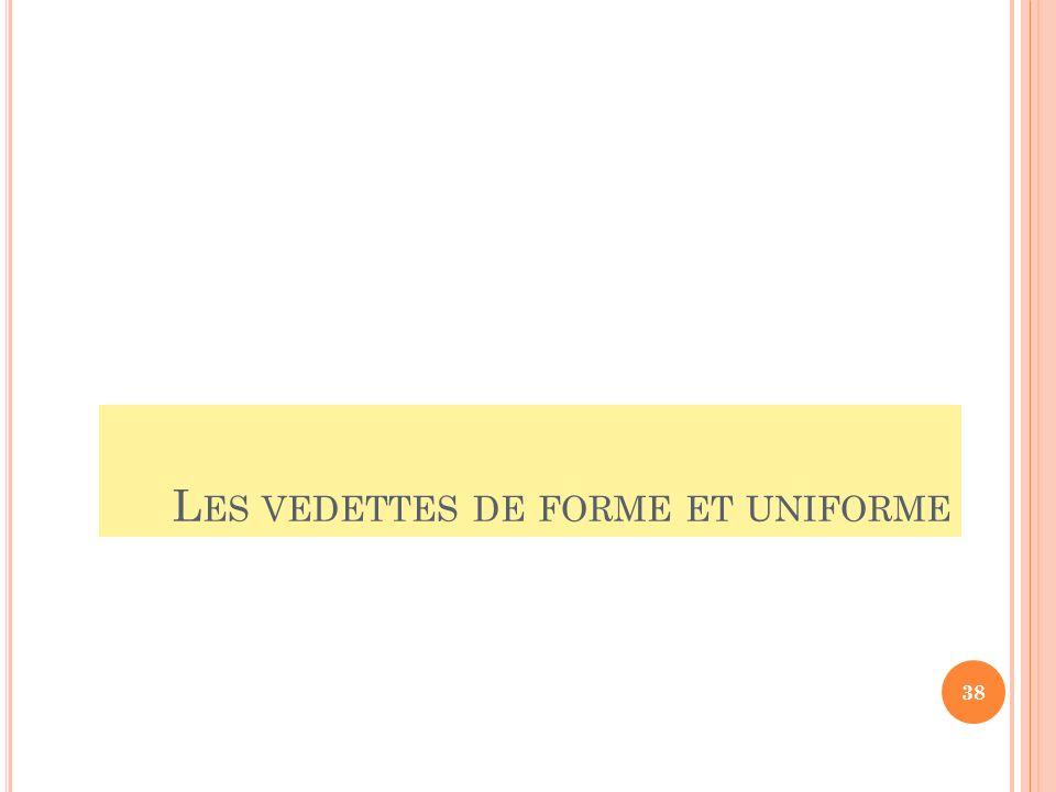 Les vedettes de forme et uniforme