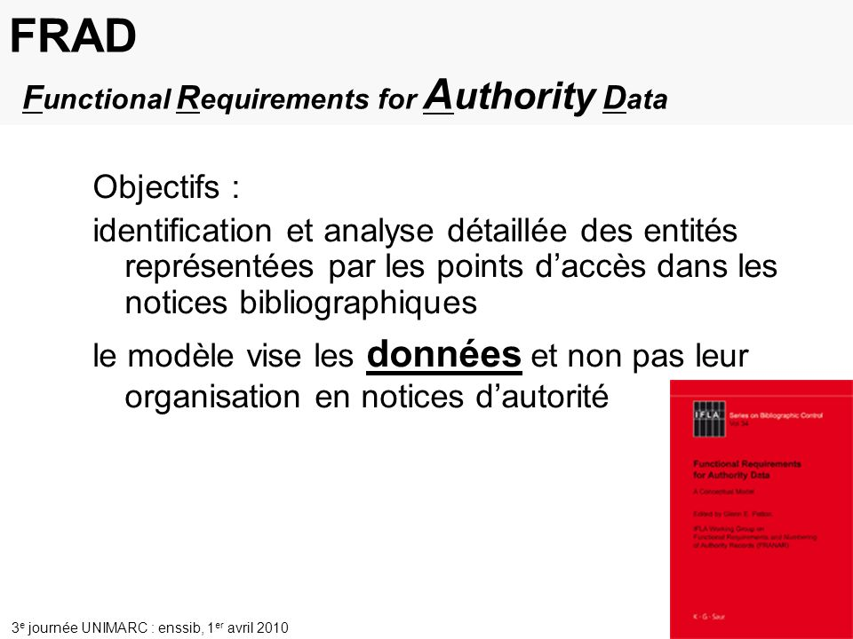 FRAD Functional Requirements for Authority Data