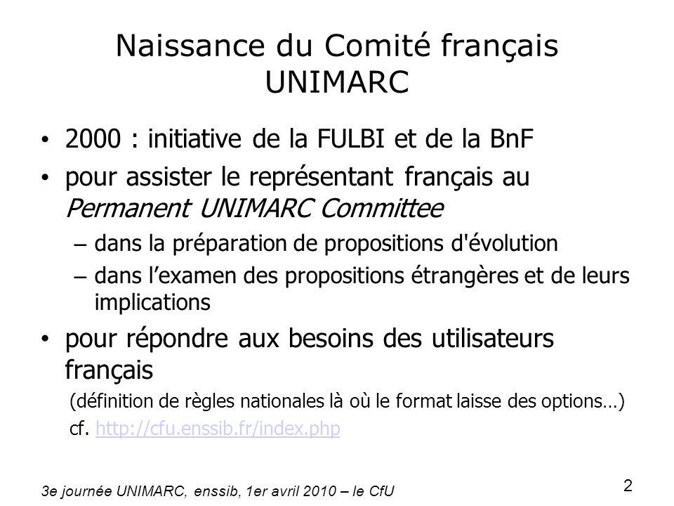 Naissance du Comité français UNIMARC