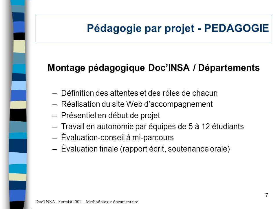 Pédagogie par projet - PEDAGOGIE