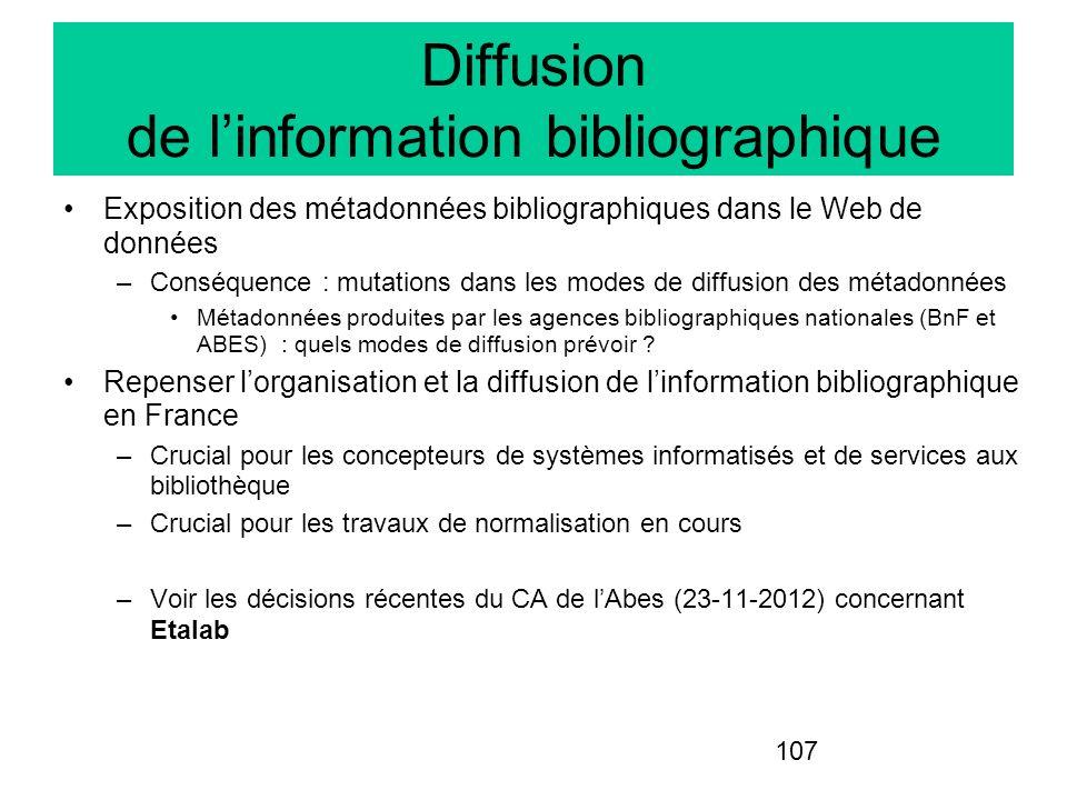 Diffusion de l'information bibliographique
